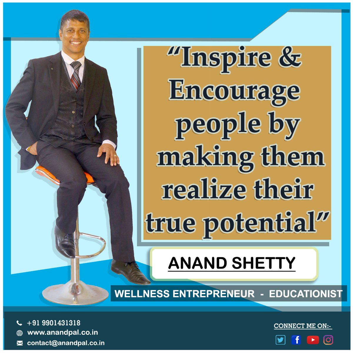 Inspire and encourage people by making them realize their true potential.      For a revolutionary Beginning in your Life Call Immediately +91 9901431318  #anandpal #anandshetty #sattvaa #aadya #winningteam #vestigepic.twitter.com/G7AyTefq1O
