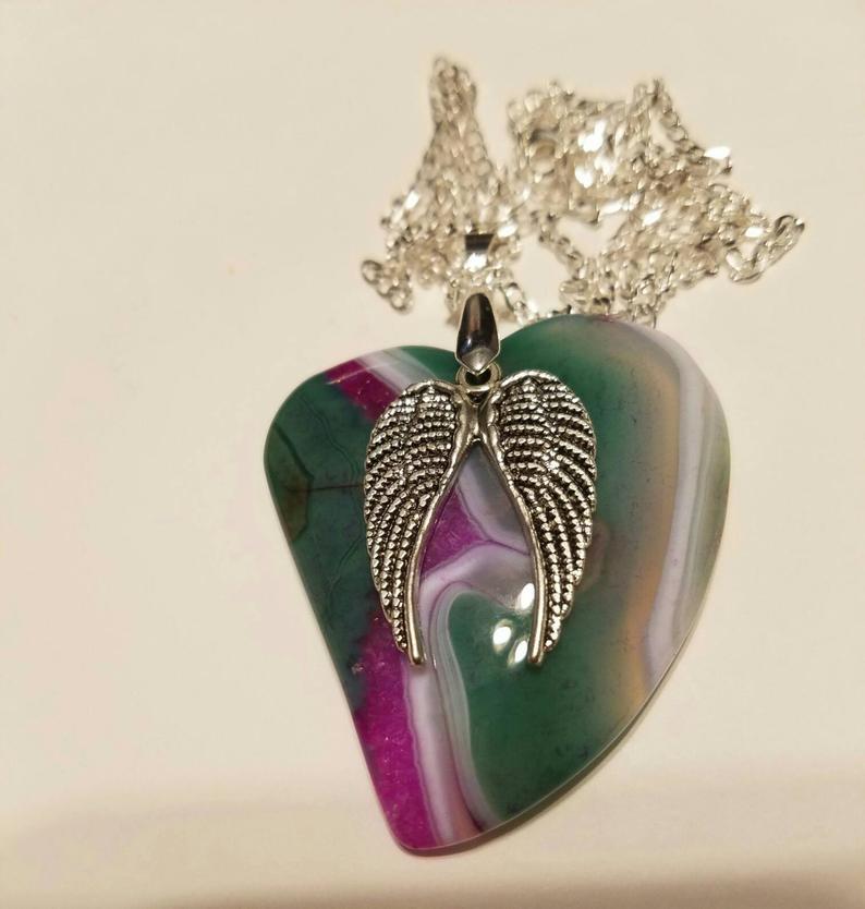 Unique Green and Purple Druzy Geode Heart Pendant, Gemstone Jewelry, Heart Jewelry, Gift Idea #mjjewelryadventures #greenpurpledruzyheartpendant #heartjewelry #gemstonejewelry #gemstonependant #uniquejewelry #giftidea #shopEtsy #shopsmallbusiness
