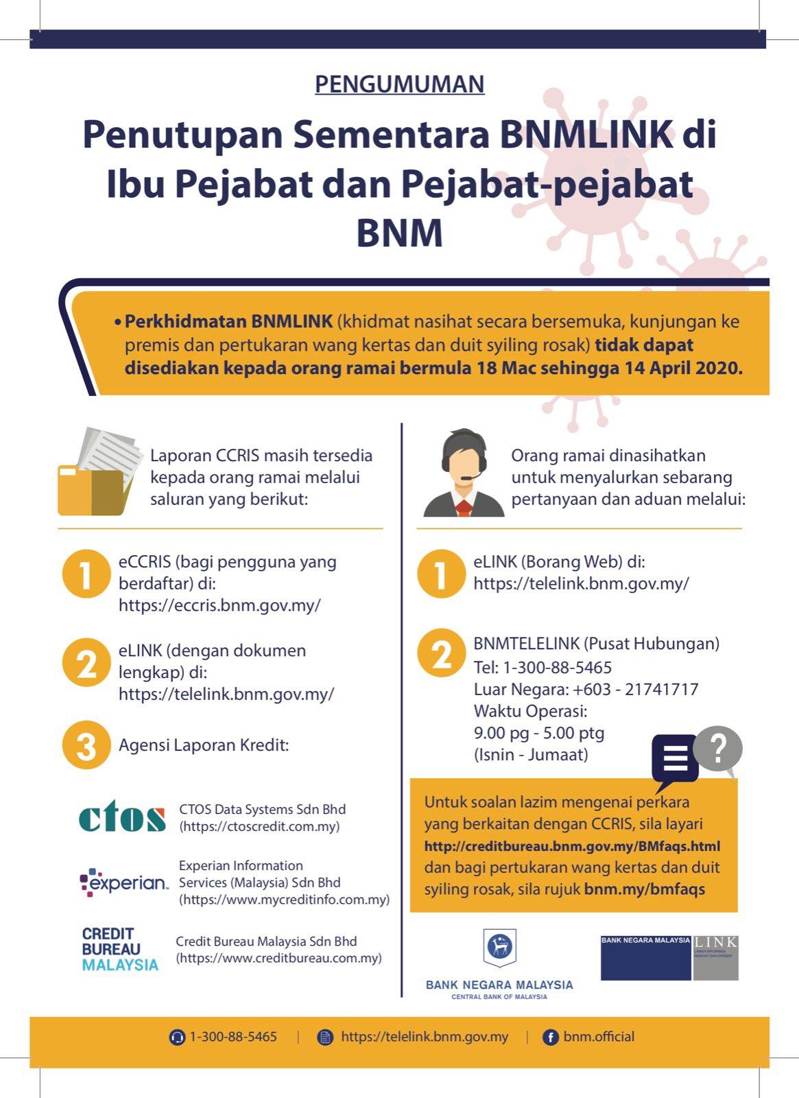 Bank Negara Malaysia בטוויטר Disebabkan Lanjutan Pkp Penutupan