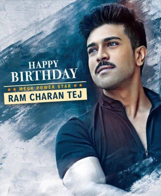 "Happy birthday \""Mega Power Star\"" Ram Charan Tej Garu.."