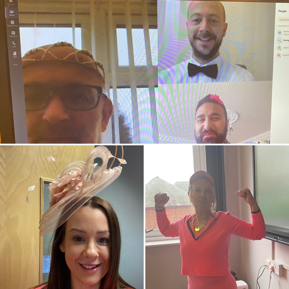 So our SLT themed Teams meetings have continued. This week we've had: props, kitchen utensils and today was dolled up for Fancy Friday. Seeing these faces every morning has certainly made my week in school a lot happier #dreamteam #teamwork #bhamazingpic.twitter.com/IuS3FSD33a