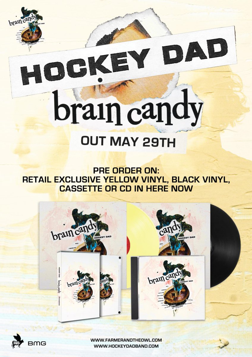 Red Eye On Twitter Pre Order Now The New 2020 Album Brain Candy By Hockeydadband Is Out Fri 29th May Pre Order From Us Now And Receive A Free 7 Single Of