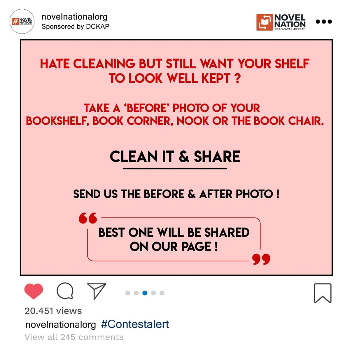 #Contestalert  Share a picture of your library/reading corner with us! Calling all the #booklovers to clean their shelves and share pictures with us! #BooksConnectUs #StayHomeStaySafe #library #Contest #pictures #books #BookShelf #LibraryfromHome #readerspic.twitter.com/KExBRxgRhZ