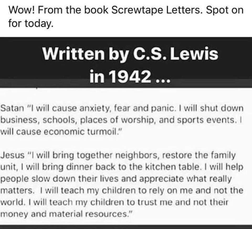 """Annie Spiers on Twitter: """"I've long been a fan of CS Lewis and his ..."""