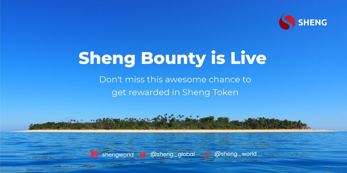 The Sheng Token Bounty is live and you can continue to earn lucrative rewards and bonuses. Visit https://bit.ly/2Srg68m to know more!    #Shengbounty #ShengToken #ShengWorld #IEO #ICO #blockchain #cryptobounty #shengasia #shengieo #cryptobounty #probitpic.twitter.com/ZQaNud2D0z