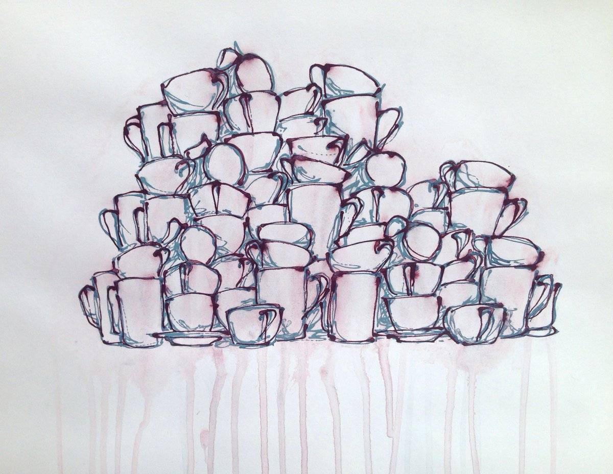"A3 #original painting acrylic on paper""group"" £80 +p+p as part of the #artistsupportpledge @artistsupportpledge  Every time I reach £1000 of sales I pledge to buy another artist's work for £200. please #share   #artwork #artforthehome #drawing #cupspic.twitter.com/PpoXVpWUl1"