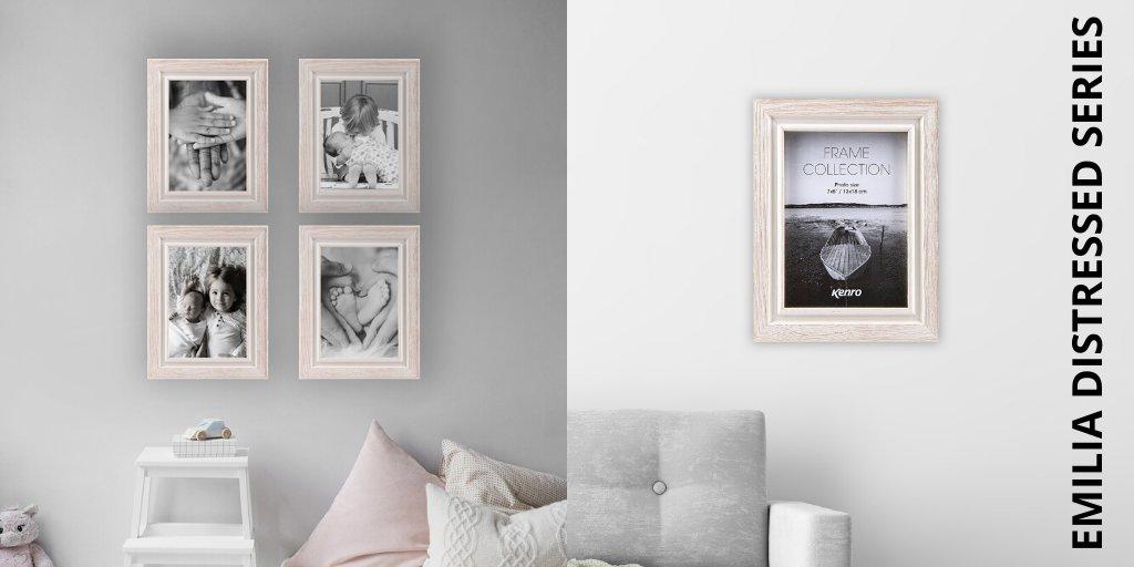 Kenro Senator Series White Wood Double Picture Photo Frame