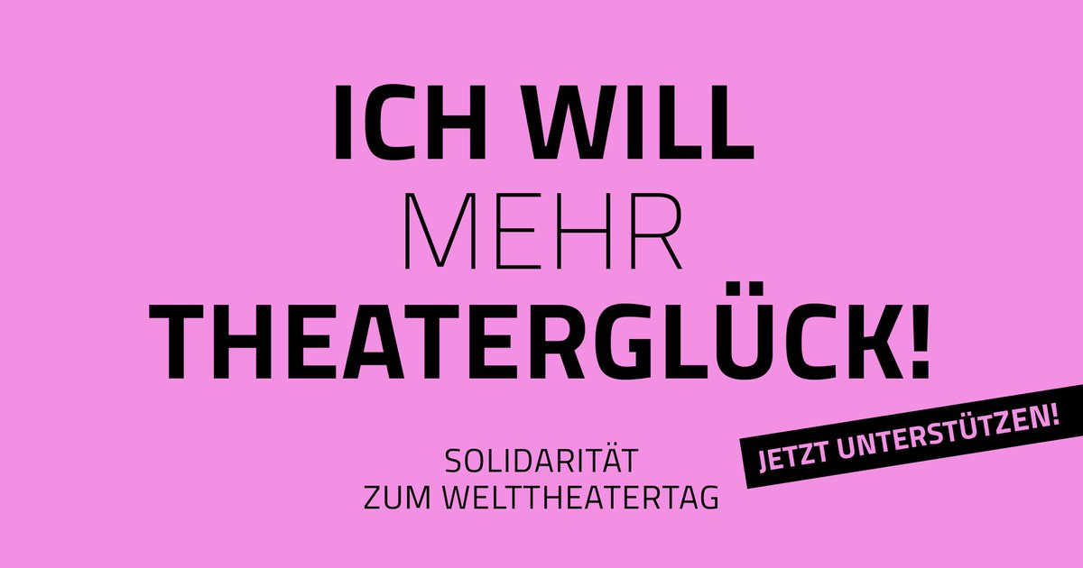 #Welttheatertag