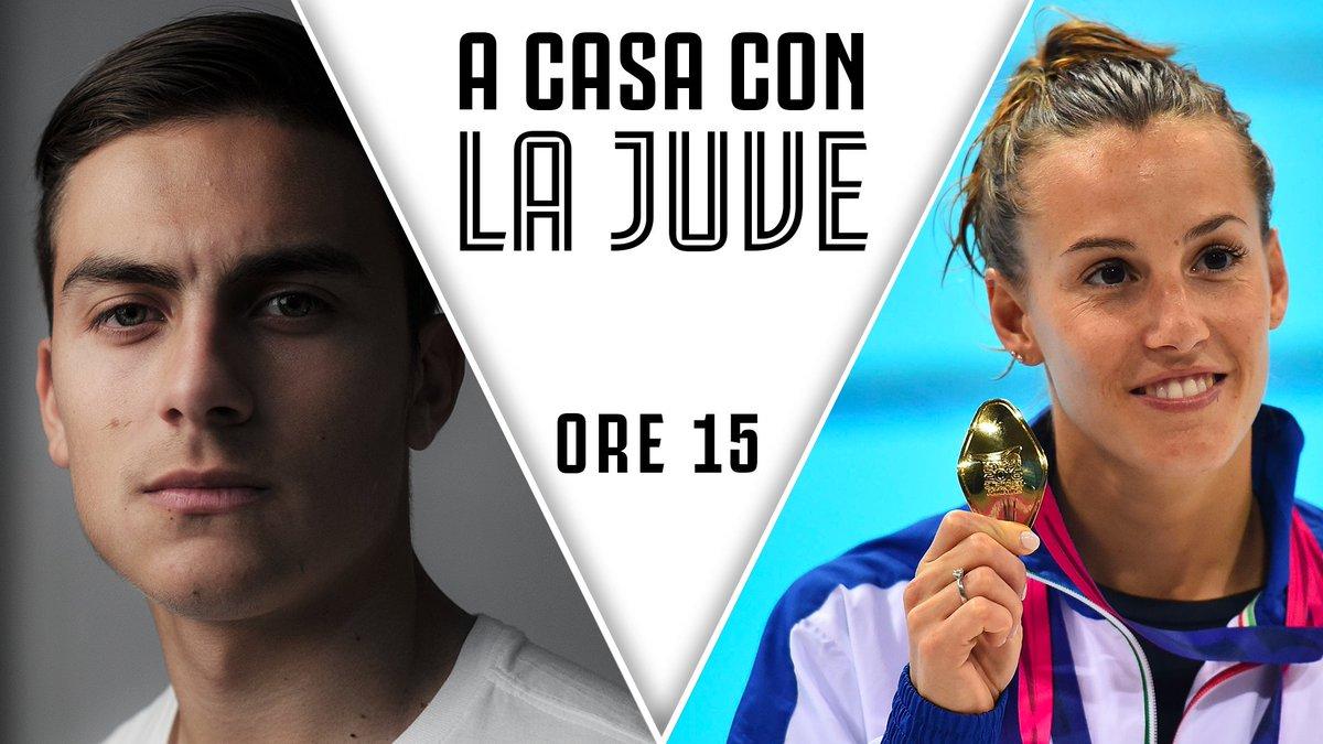 🙌 PAULO DYBALA & TANIA CAGNOTTO IN DIRETTA! 🙌  📲 Twittate subito le vostre domande con hashtag #ACasaConLaJuve  🔴 Live alle 15:00 su http://Youtube.com/Juventus e @JuventusTV ➡️ http://juve.it/EOUQ30qpwzR