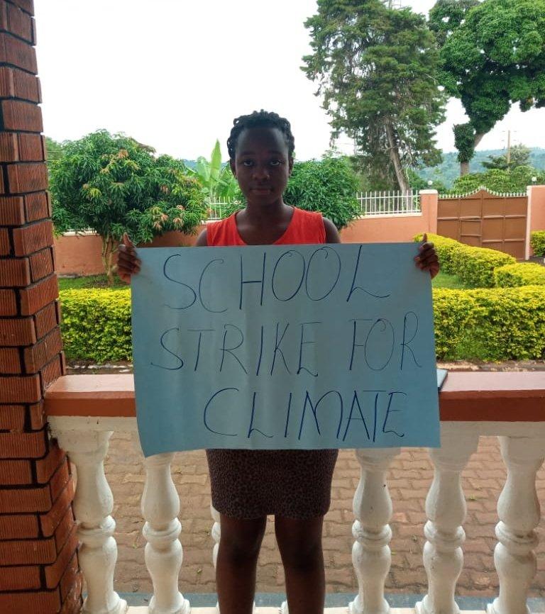 School strike for climate week 59 from the global South, Kampala Uganda. #DigitalStrike #ClimateStrikeOnline #schoolstrike4climate #fridaysforfuture #climatestrike #COVIDー19 #COVID19UG