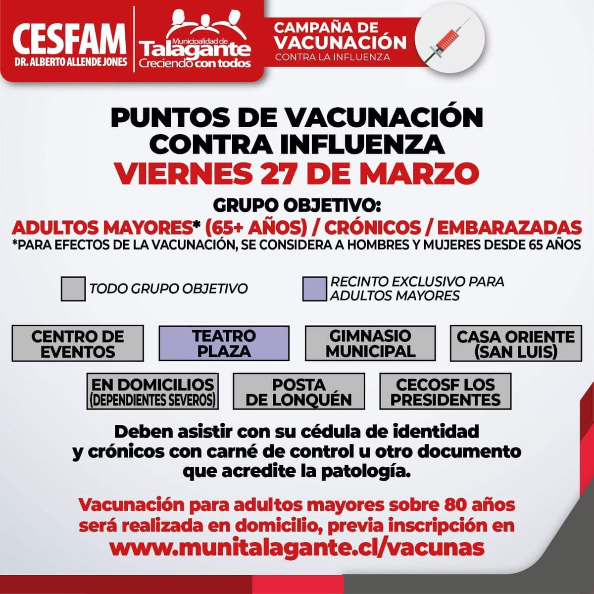 dosis de vacuna influenza para adultos mayores