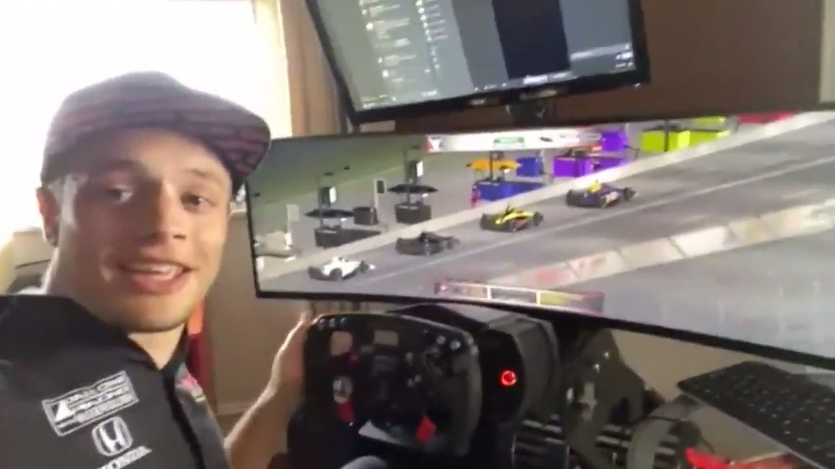 Were excited to be calling Saturdays @IndyCar  @iRacing  Challenge at @WGI !  @LeighDiffey  caught up with @SantinoFerrucci  before the big race. Full interview here:  https://www.nbcsports.com/video/league/indycar  …