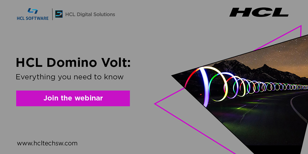A must-see web conference about #HCLDomino #Volt #timetoactgroup