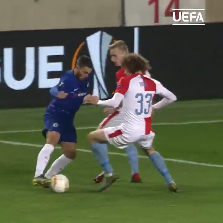 Eden Hazard with the moves 🔥⁣ ⁣ #UEL | #FlashbackFriday