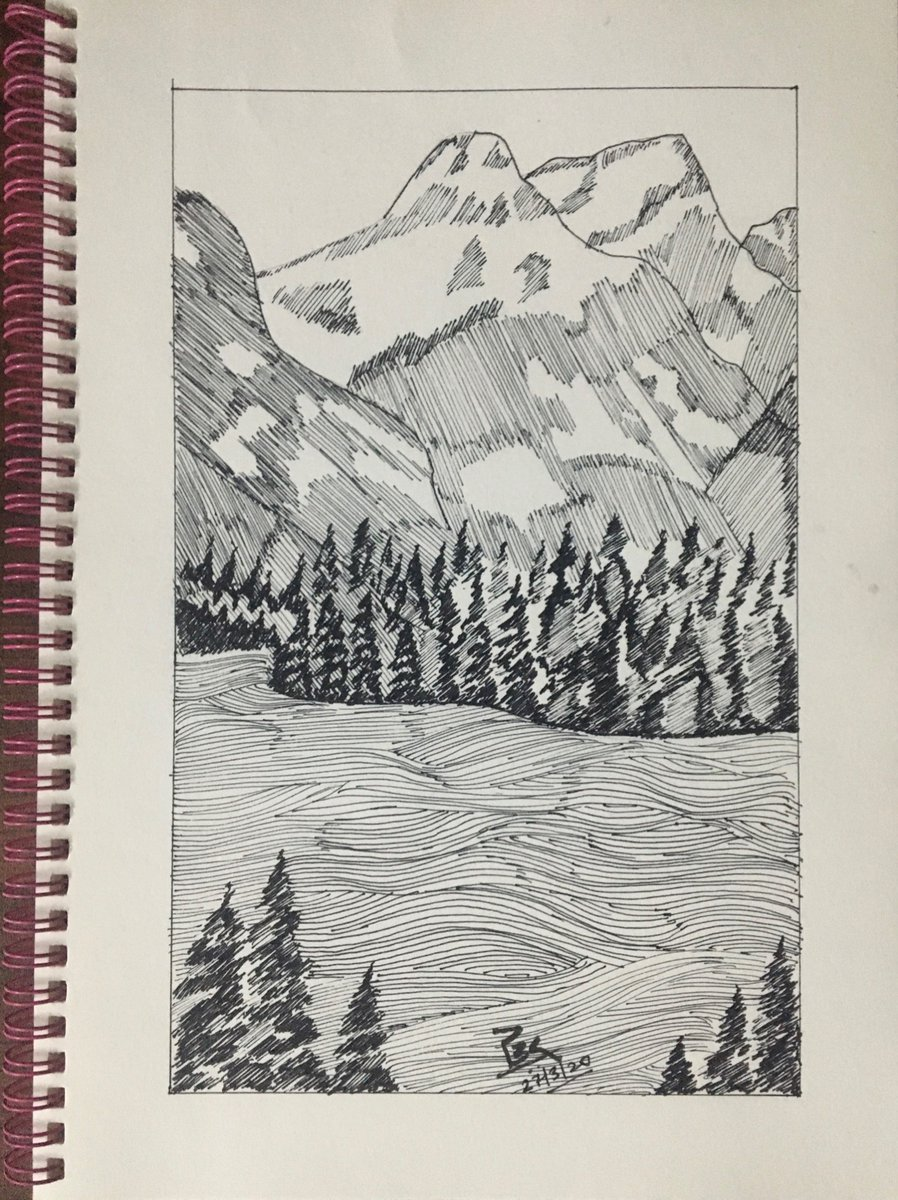 Another #PenSketch in #21DaysLockdown  #OneSketchADay   I crave for the mountain... pic.twitter.com/NGiXEhZ4h8