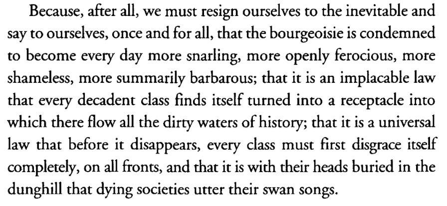 These words of Aimé Césaire keep coming to my mind watching this all unfold
