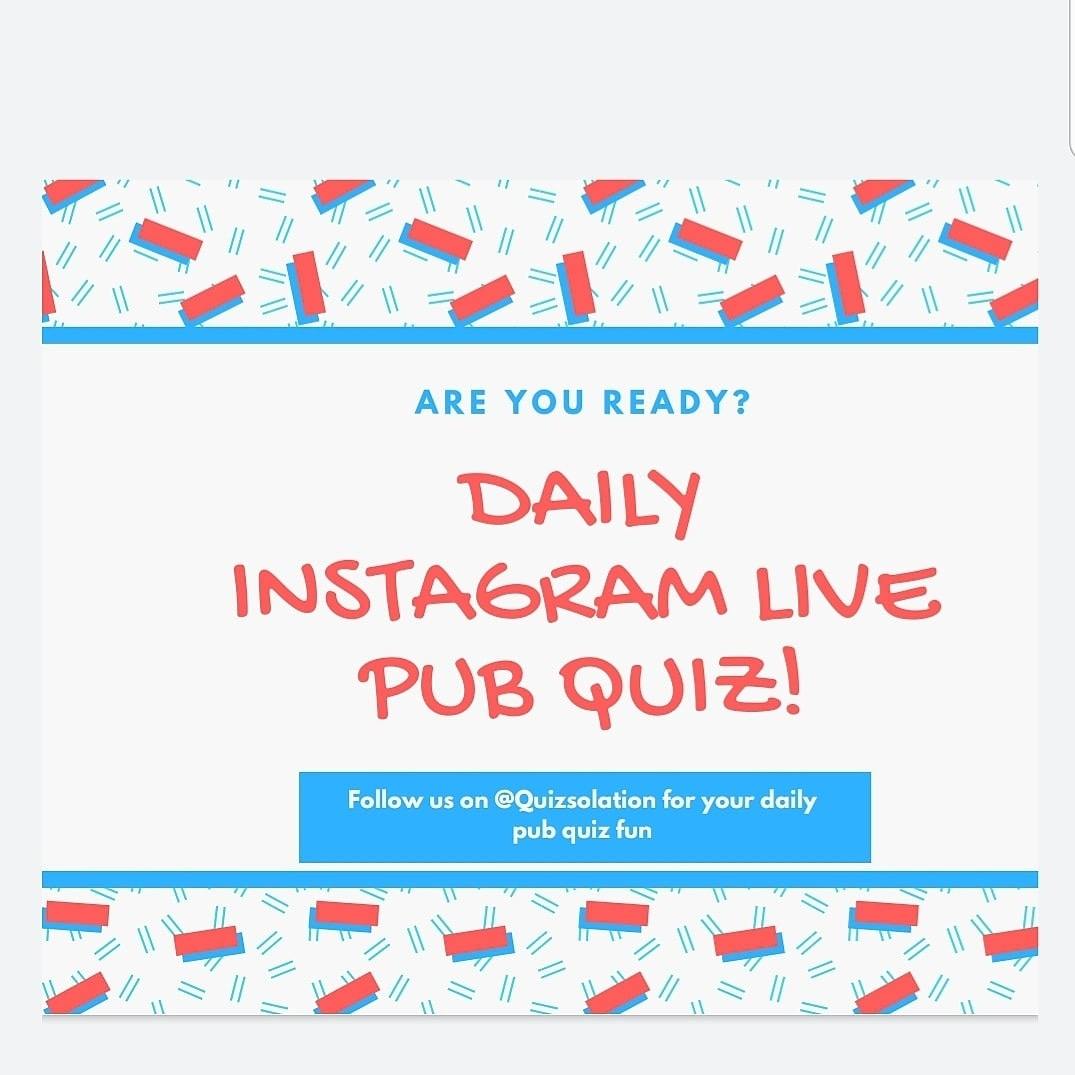 If you haven't followed it yet, or haven't told anyone about it, get on the case now!  Hosted by our very own GM on Instagram! @quizsolation . . . .  #isolation #isolationcreation #fun #creative #coronavirus #corona #help #helpingothers #helpothers https://t.co/uKnWqtS8MG