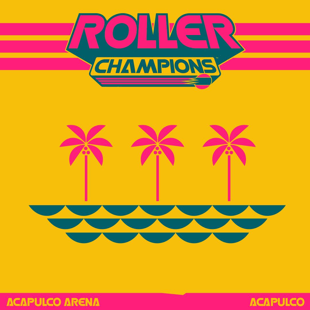 Aquí tenéis el poster de nuestra primera arena en #RollerChampions , Acapulco. Soleada, colorida, y cuando está llena de fans, también ruidosa.   ¿Qué te ha parecido la arena? ¿Te gustaría ver más de este estilo?