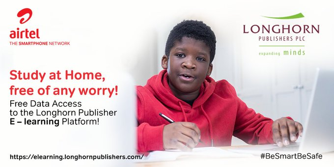 Get free data access to the Longhorn Publisher's E-learning platform by using Airtel.