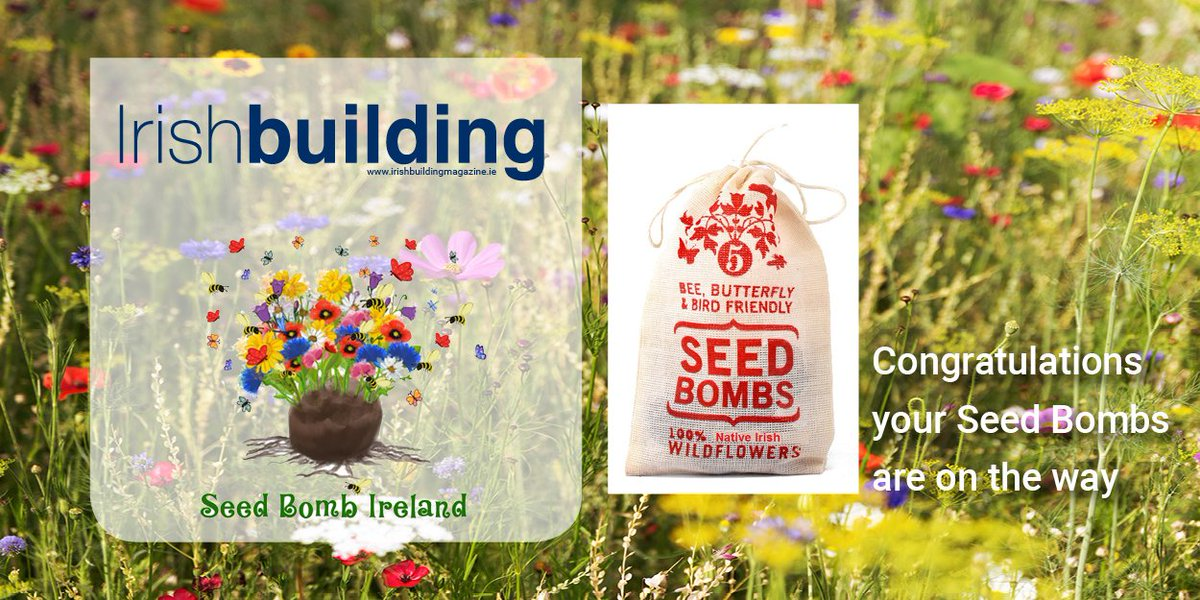 Thursday's Twitter Winners of the Seed Bomb Bags are @atsegal09 @andrewmckeown73 @billynolans   We will announce Today's Winners after 5pm this evening.  #SeedBombs #Wildflowers #Bees #Irishbuilding https://t.co/bQ8UrVp7s7