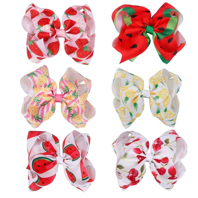 's Media: #happy #perfectcurls Girl's Fruit Printed Polyester Hair Bow https://t.co/g16icNW10y https://t.co/L