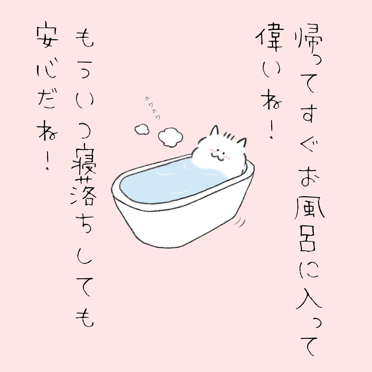 帰ってきてすぐにお風呂に入る人を褒めてくれるポメラニアン。