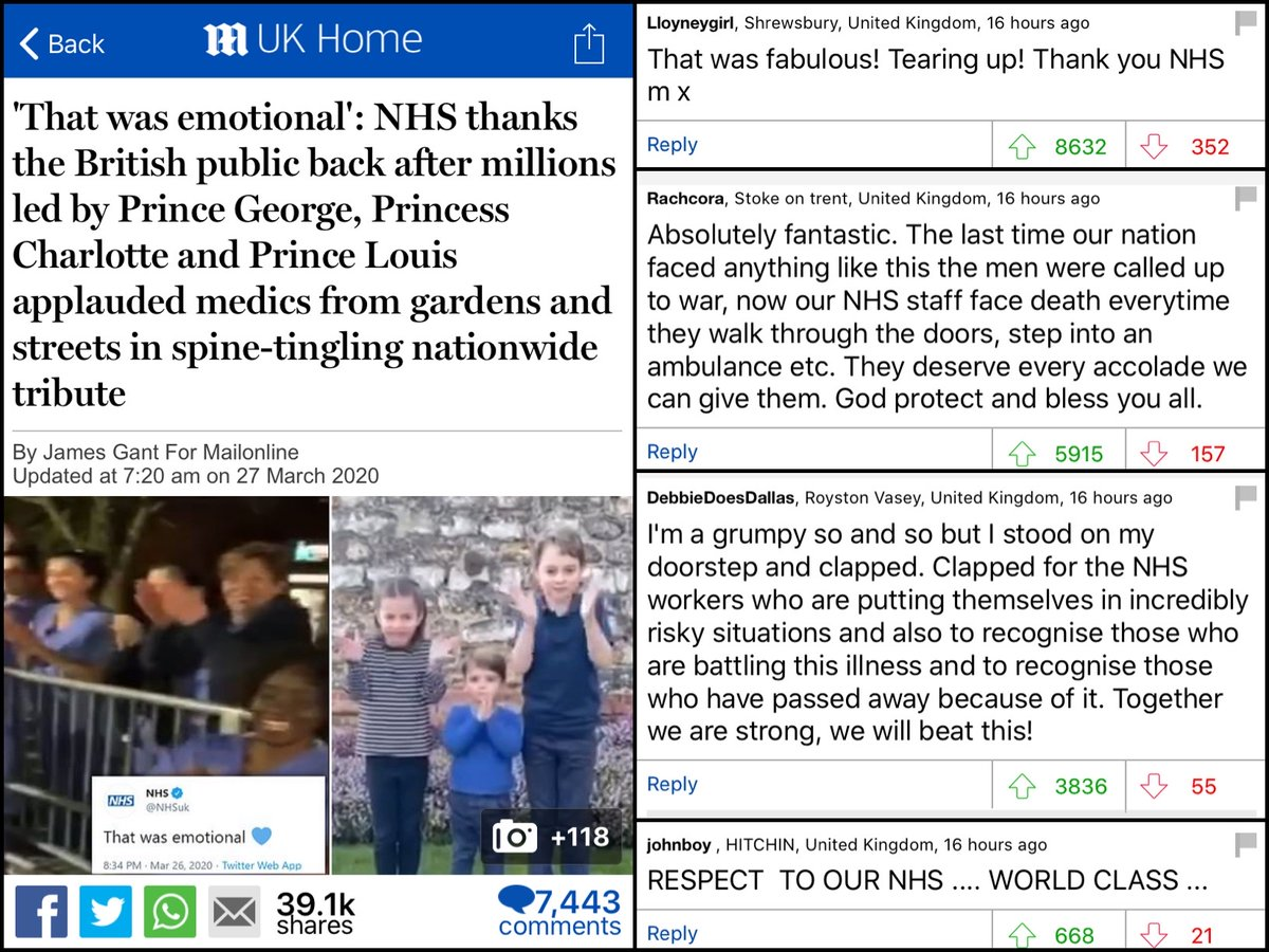 DAILY MAIL READERS: 'The NHS is amazing and I will gladly applaud health workers for their efforts.' ALSO DAILY MAIL READERS: 'Why are unions trying to get medical students fair pay for working?'