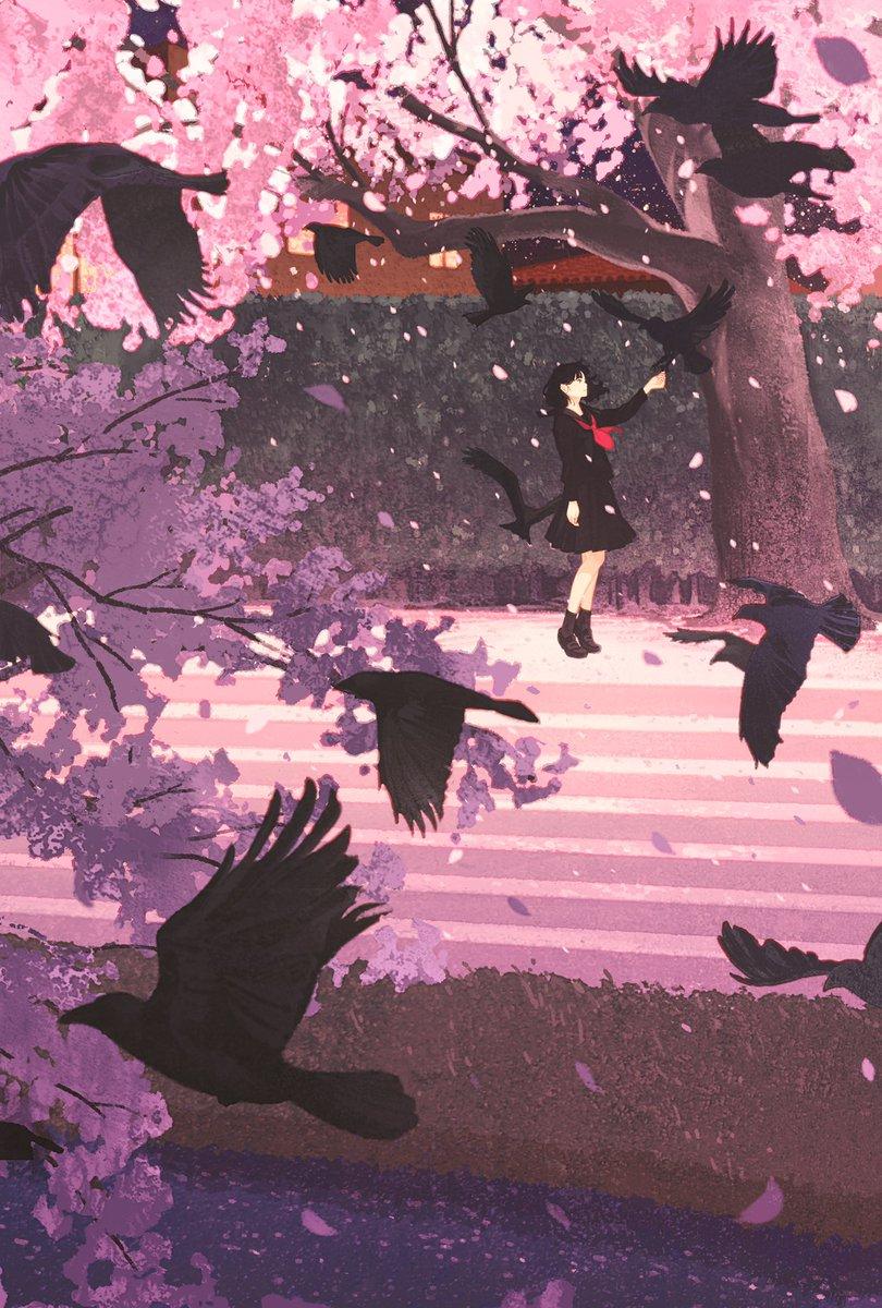 お花見できないこんな時なので、桜の絵を