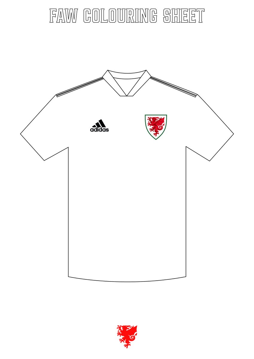 🚨 ATTENTION 🚨  #TheRedWall! Your time has come!   Give @adidasUK / @adidasfootball a helping hand and design your own Cymru kit for fun!   Find the template in the @FAWales colouring sheet downloads: https://bit.ly/2xp3Ddp    We've added some inspiration for you below 👇