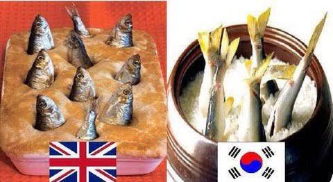 ニシンのパイ、韓国の米にぶち込んでる料理と対比してワープホールって言ってるの本当に好き。発見した人尊敬しちゃう