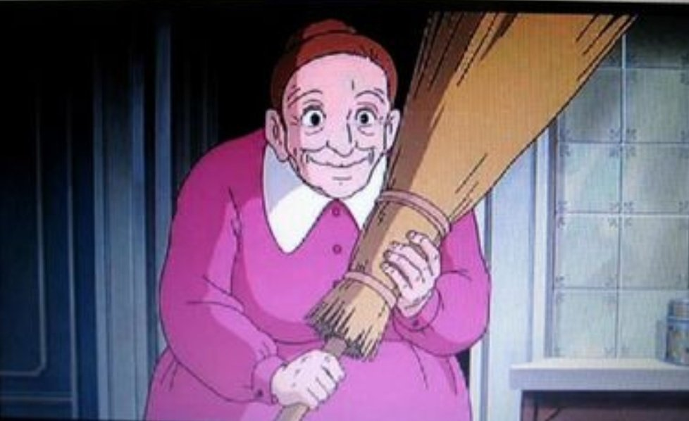 上品な奥様が「婆さん!婆さん」って呼ぶのが子供の頃から不思議だなぁと思ってましたが、この人の名前がバーサであることを2分前に知りました。#魔女の宅急便