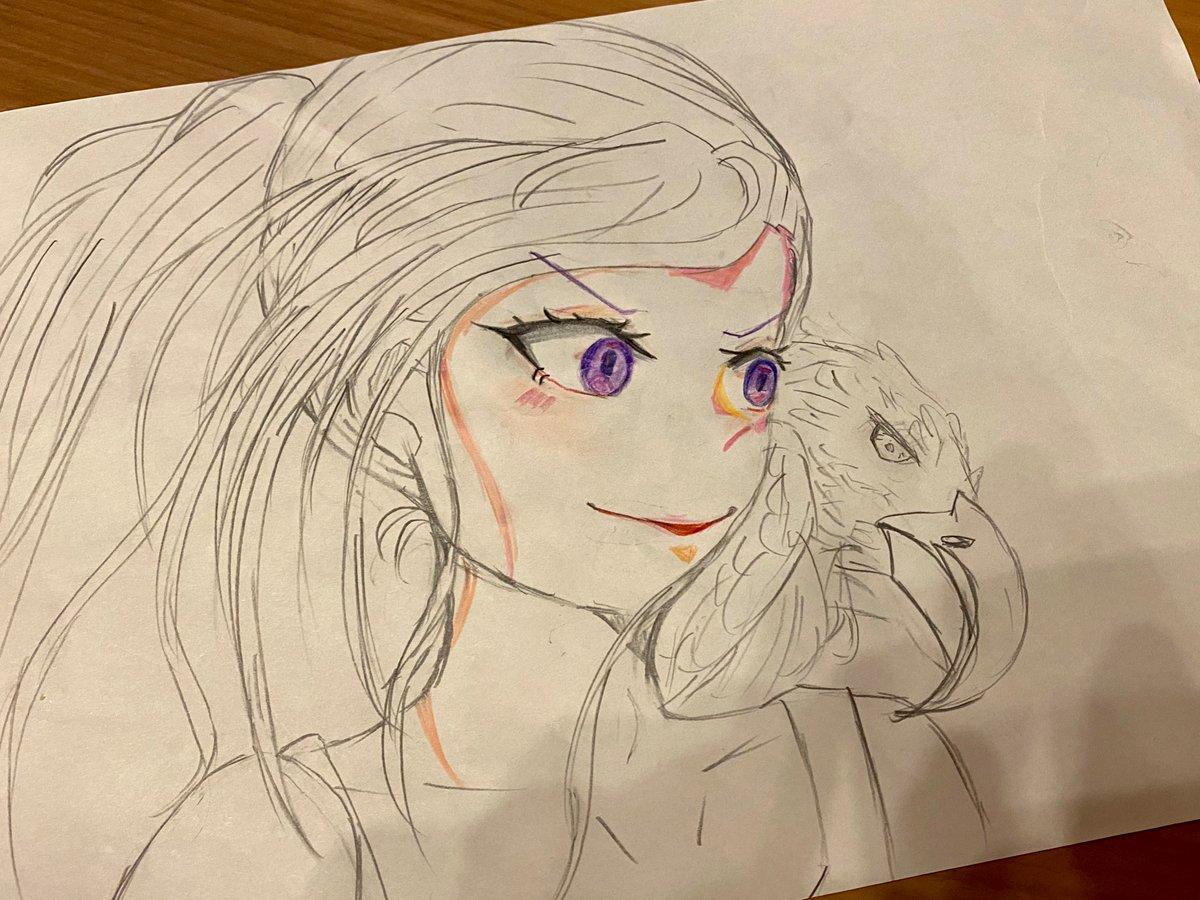 10歳の娘が漫画描き始めた。楽しんで描いてくれい。