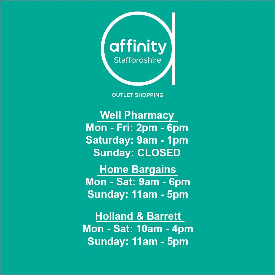 ⏰ CHANGE IN OPENING TIMES! ⏰  Holland & Barrett's opening hours have changed on Sundays. Please note the current opening hours of our three essential stores, below. https://t.co/toOUJ1iABA