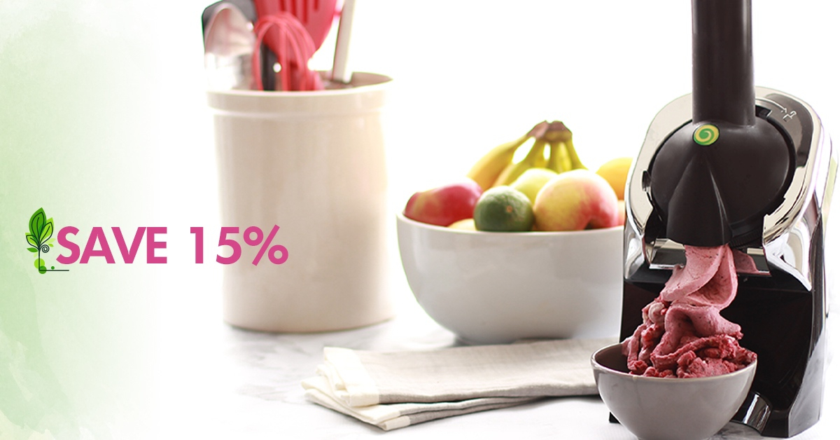 "Got fruit? That's all you need to make dessert! Yonanas Elite turns fruit into soft-serve ""ice cream"".  Save 15% now with code SPRING15 here: https://t.co/hSfiJqLsWD https://t.co/ntLnc5ktaM"