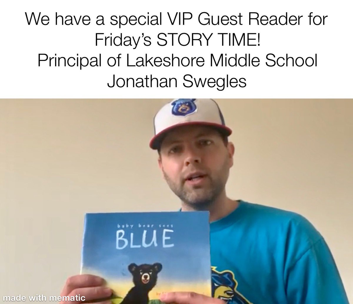 Hey #BuchananBears! Don't miss tonight's STORY TIME with special guest @JWSwegles!! #LivoniaPride #MEMSPA #NAESP