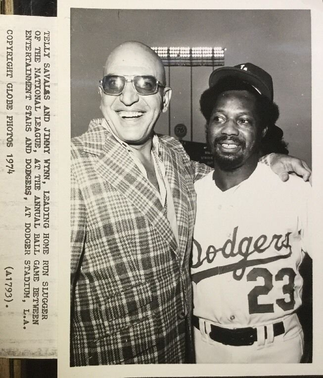 """A funky farewell to the great Jimmy Wynn, a.k.a. """"The Toy Cannon"""". Even Kojak thought he was cool. #Dodgers #RIP"""