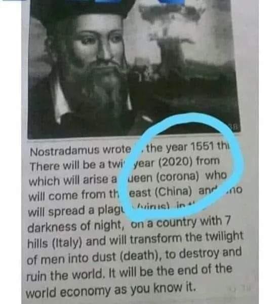 予言 コロナ ノストラダムス