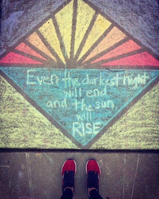 의 미디어: The sun will rise, and so will I. #seenonmyrun #RiseUp #fellowflowers https://t.co/qK15228hbT