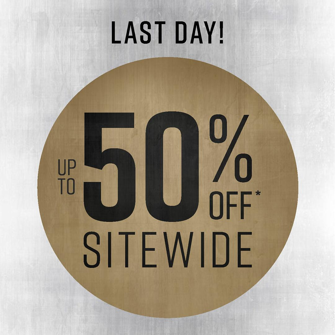 ❗LAST DAY❗Don't miss out. Shop our Up to 50% Off Sitewide sale: bit.ly/2WMnLAF.