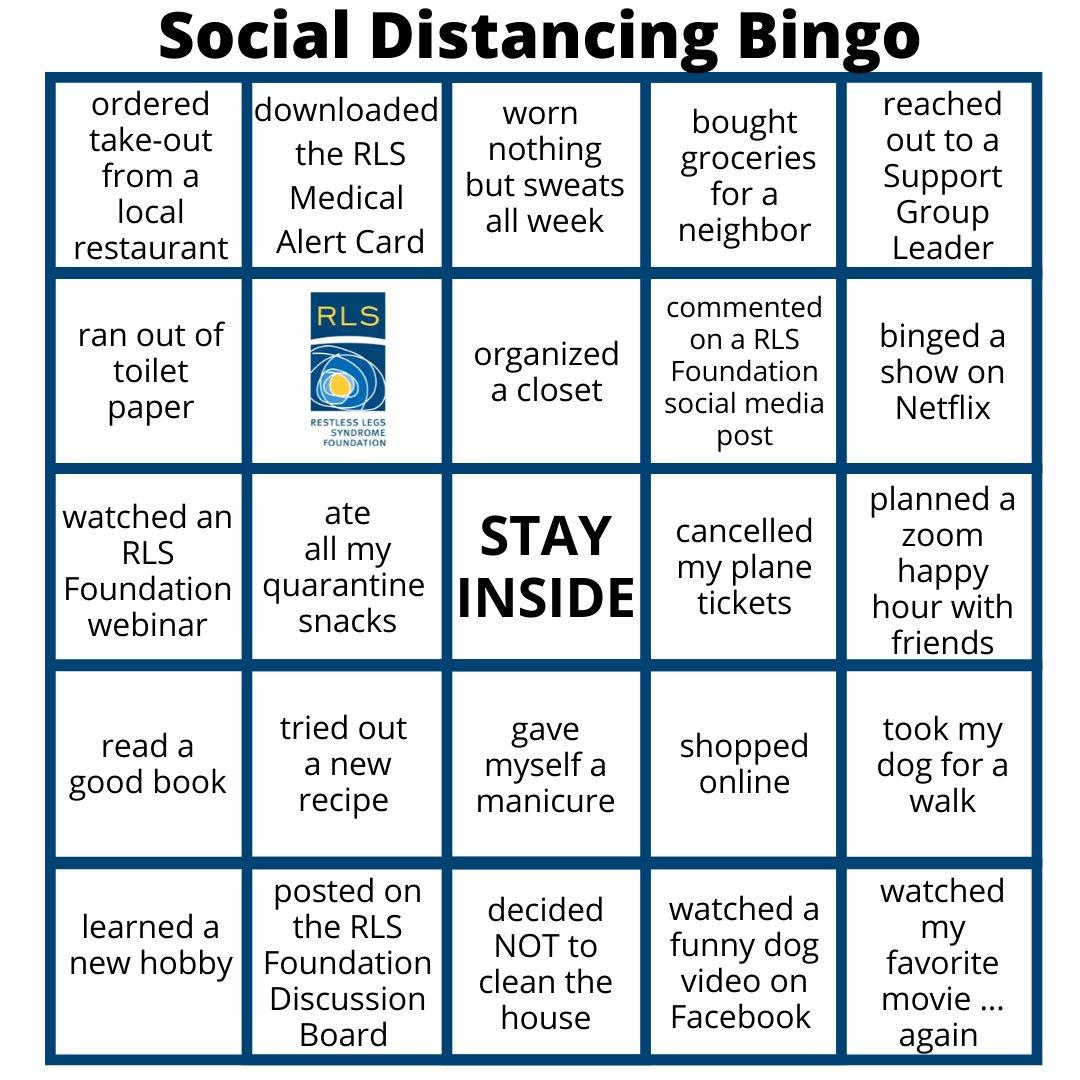 Social Distancing Bingo On Zoom