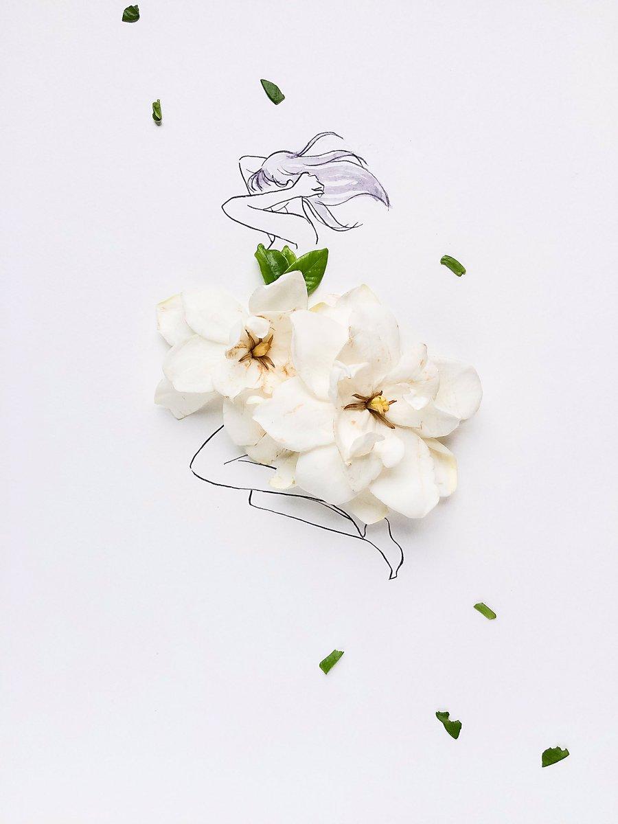 雨上がりの庭で クチナシの香りのやさしさに包まれたなら きっと目にうつる全てのことは メッセージ#魔女の宅急便クチナシの花言葉は「この上なく幸福」「胸に秘めた愛」