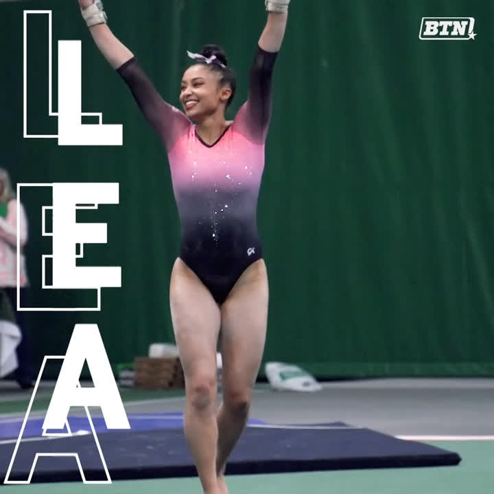 Season-high of 9.875+ on all four events? 😳 @MSUgymnastics has one who does it all. @leasimone__ was 🔥 in 2020.
