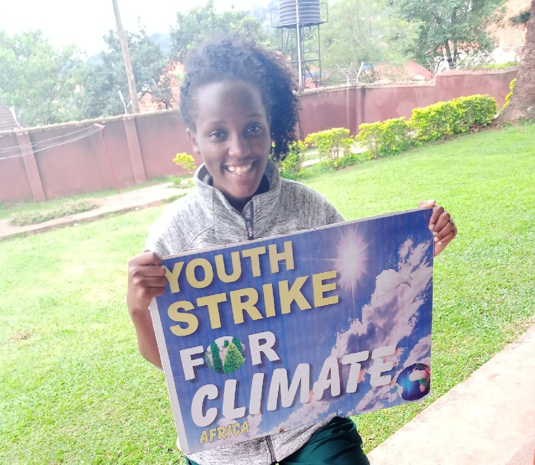 School strike for climate :Week 63 Kampala, Uganda 🇺🇬 Keep safe and try to protect your mental health as well. #climatestrikeonline #StayAtHomeAndStaySafe