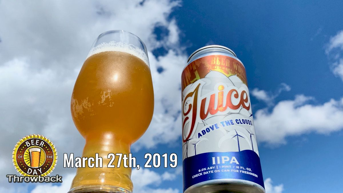 Beer of the Past for Mar 27th, 2019: Juice Above the Clouds from Altamont Beer Works (http://botd.us/Dc1YzA) in Livermore, CA. #beersnob #drinklocal #beergeek #lovebeer #beer #craftbeer #ilovebeer #beertography @AltamontBWpic.twitter.com/yRqjHalibj