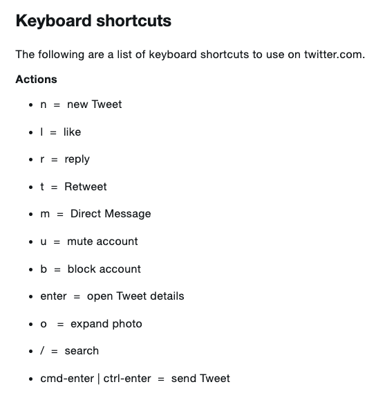 I was today-years-old when I learned @Twitter has keyboard shortcuts?