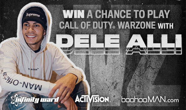 Who wants to be in @dele_official squad? 👁👌 Win a chance to play Call of Duty Warzone with Dele on our official Twitch stream 🎮 All you need to do is: 1⃣ Follow @boohooMAN 2⃣ Like this post 3⃣ Comment the hashtag #SquadUpWithDele and your preferred console! Good Luck!