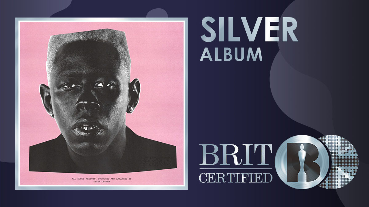 'IGOR', @tylerthecreator's fifth studio album, has gone #BRITcertified Silver! <br>http://pic.twitter.com/FZRW7VvJQg