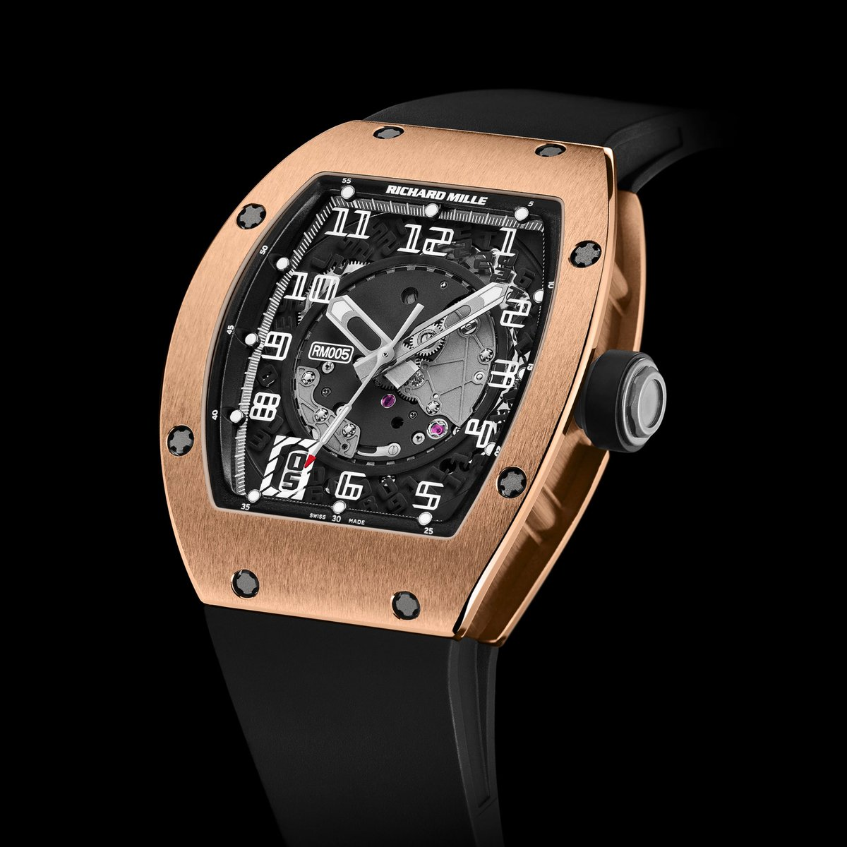 #Historicalmodels With its own powerful identity and technicity applied since the brand's creation the RM 005 defined the brand's range of automatic watches as with our tourbillon watches. #RichardMille https://t.co/Gb7DJcZbze