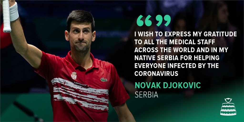 World No.1 @DjokerNole has announced that he will donate 1 million euros to help Serbia buy medical equipment   #DavisCup | #StayAtHomeSaveLivespic.twitter.com/G95V4Y2UgF