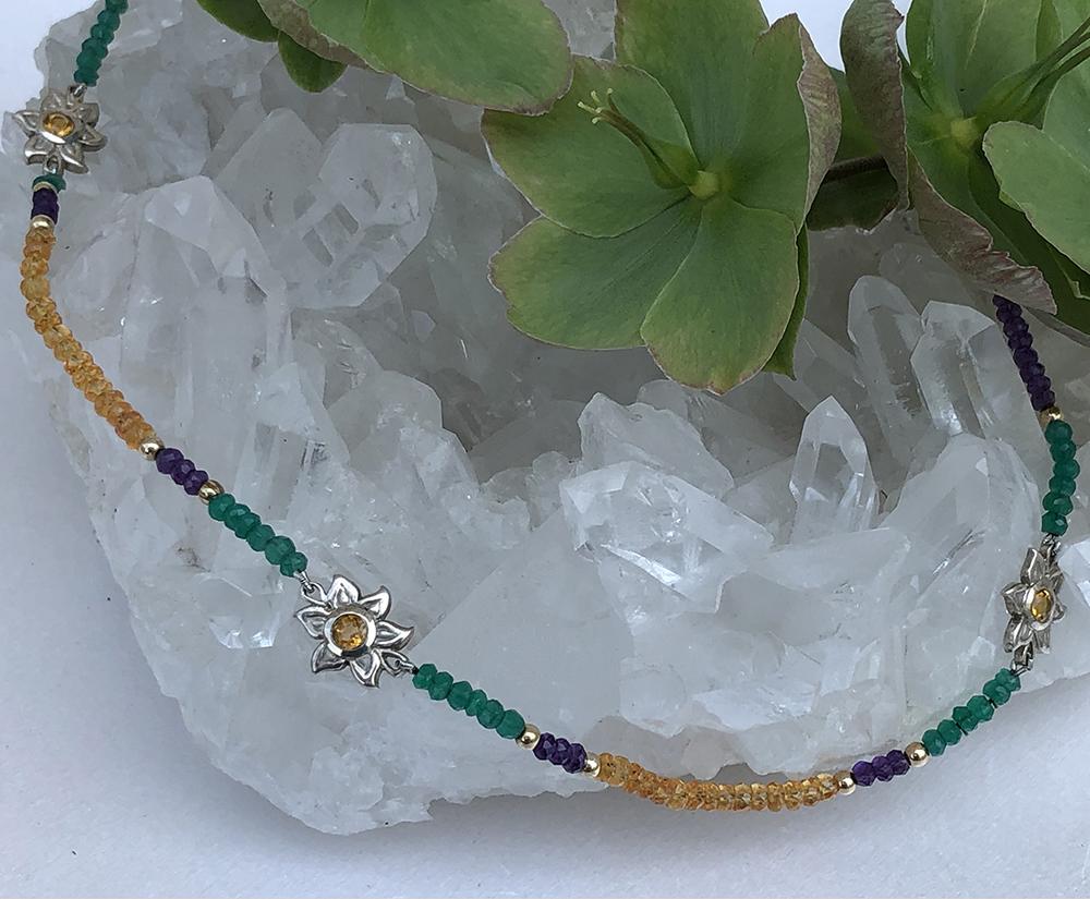 Does it make you think of the outdoors?  What do you think of the colors?  #makingjewelry #jewelrydesign #springishere #handmadejewelry #jewelryblog #jewelryblogger #etsyjewelry #andrealopresti #nycfashion #nycjewelry